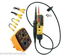 Kewtech 17th Edition Electricians Electrical Testing Kit R1 R2 + Fluke Tester