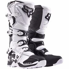 2017 Fox Racing Comp 5 WHITE Motocross Dirt-Bike MX ATV Adult Boots Size 10