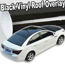 "Gloss Solid Black-Out Vinyl Overlay Moon Roof Tint Top Cover Film 60"" x 53"" C01"