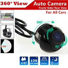360° CCD Car Front Reverse HD Camera Rear View Backup Cam 170° Angle Waterproof
