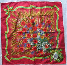 Magnifique Foulard   GUCCI by V. ACCORNERO  en 100% soie  TBEG vintage scarf /