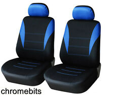FRONT BLUE- BLACK FABRIC SEAT COVERS FOR FIAT PANDA STILO GRANDE PUNTO 500 BRAVO