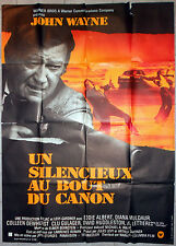 Affiche UN SILENCIEUX AU BOUT DU CANON McQ JOHN WAYNE Sturges 120x160cm