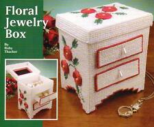 FLORAL JEWELRY BOX PLASTIC CANVAS PATTERN INSTRUCTIONS ONLY FROM A MAGAZINE