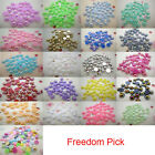NEW DIY Half Pearl Round Beads Flat Back Scrapbook for Craft many color AB pick