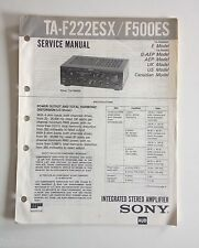 Schema SONY - Service Manual Integrated Stereo Amplifier TA-F222ESX TA-F500ES