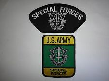 2 US SF Patches: SPECIAL FORCES De-Oppresso Liber + US ARMY SPECIAL FORCES