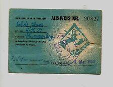 FDJ travi Certificato di identità per attivisti distintivo di 1950 RAR