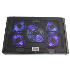 "12-17"" Laptop Tablet USB 5 Fans LED Light Cooling Cooler Adjustable Stand Pad"