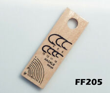 Hook & Hackle Gauge for Fly Tying Wood - Select the Correct Size Hackle - FF205