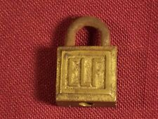 Antique Small Miniature Elf Padlock Lock With Key Vintage Dog Collar Bracelet