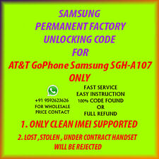 Samsung SGH A187  UNLOCK CODE AT&T GOPHONE  OUT OF CONTRACT PHONE ONLY FAST
