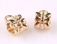 50pcs gold plated big hole spacer beads fit Charm European Bracelet AX542