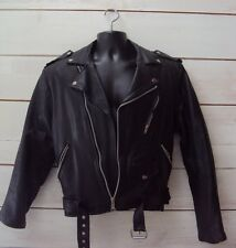 Women's Motorcycle Jacket Black Leather - Size Small