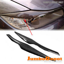 Real Carbon Fiber Eyelid Eyebrow Headlight Trim Fit for BMW E90 323i 328i 335i
