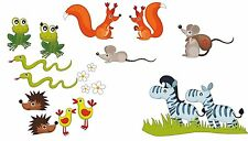 "Wandsticker Set ""Tiermix""klein, Wanddekoration, Sticker Wandtattoo Arche Kinder"