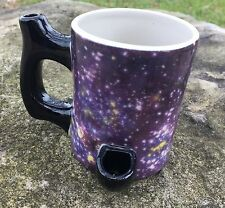 NEW Happy Mugs Wake n bake Pipe Coffee mug Galaxy  IMPERFECT