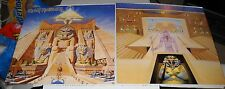 Set of 2, Iron Maiden-Powerslave 12x12 Promo Album Poster Flat, 2 Sided, NEW