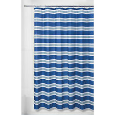 """Rugby Blue Stripe Fabric Shower Curtain 70"""" x 72"""" by Colormate"""