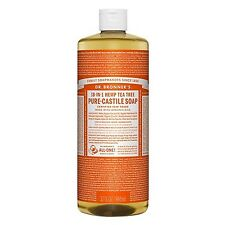 Dr. Bronner's Magic Soap Hemp Tea Tree Oil Pure Castile Soap 32 oz