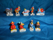 DUMBO Set 10 Mini Figurines French Porcelain FEVES Tiny MATTE Figures Disney
