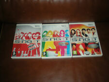 LOT 3 JEUX NINTENDO WII DISNEY SING IT + SING IT POP HITS +HIGH SCHOOL MUSICAL 3