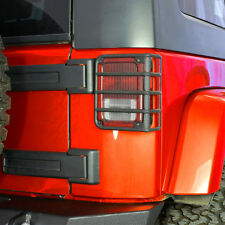 07-16 Jeep JK Wrangler Textured Black Euro Taillight Lamp Protector Guard Cover