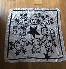 PAUL SMITH 100% Silk Scarf Creamy White & Black Drawn By Paul Limited Edition