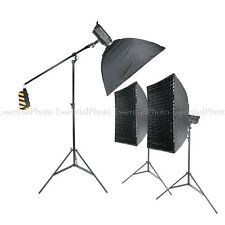 LED100D MKII Daylight  LED Continuous Studio Light 3 Softbox and Boom Kit