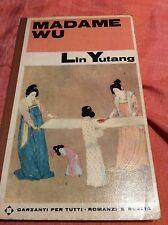 LIBRO STORICO BIOGRAFICO MADAME WU - LIN YUTANG - GARZANTI 1° EDIZIONE 1966