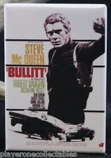 "Bullitt Movie Poster 2"" X 3"" Fridge / Locker Magnet. Steve McQueen"