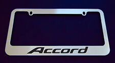 HONDA ACCORD V2 LICENSE PLATE FRAME, CUSTOM MADE OF CHROME (Zinc Metal)