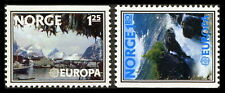 Norway: 1977 Europa - Fishing Village & Falls (#693-94)