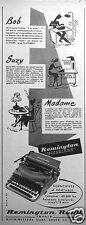 PUBLICITÉ 1954 SILENCIEUX ET PORTABLE MACHINE A ECRIRE REMINGTON - ADVERTISING