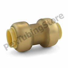 """1/4"""" Sharkbite Style (Push-Fit) Push to Connect Lead-Free Brass Coupling Fitting"""