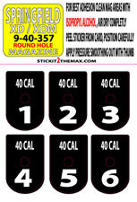 SPRINGFIELD XD / XDM 40 CAL WHITE NUMBER SET 1-6 MAGAZINE BASE PLATE STICKERS
