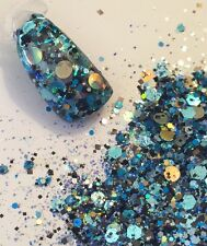 glitter mix acrylic gel nail art       NOTICED   limited edition