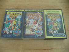ZX Spectrum 48K Job Lot of 3 Games - Match Day I, II & International