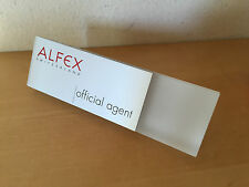 Placa Expositor Exposant Plaque ALFEX Switzerland - Official Agent - Watches