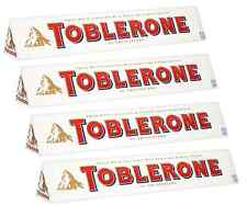 4 x 360g BARS OF SWISS IMPORTED WHITE CHOCOLATE TOBLERONES FOR ALL OCCASIONS