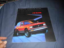 1985 Chevy Chevrolet S10 Blazer Color Brochure Catalog Prospekt