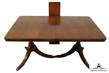 Vintage Duncan Phyfe Mahogany 70″ Double Pedestal Dining Table