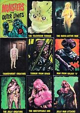 MONSTERS FROM OUTER LIMITS 1984 FACTORY REPRINT BASE CARD SET OF 50 & HEADER TV