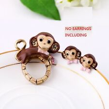 R71 Betsey Johnson Monkey Chimp Chimpanzee Ring *earrings separately sold  US