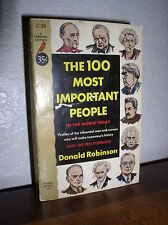 The 100 Most Important People  by Don Robinson (Cardinal,C-24,1'st prnt.1952,PB