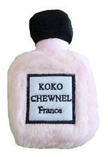 Designer Novelty Koko Chewnel France Perfume Bottle Plush Squeaker Dog Toy NWT