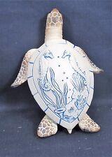 Sea Turtle w/ Embossed Art on the Shell Nautical Sea Life Figurine (A)