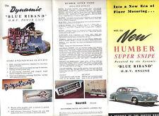 Humber Super Snipe Mk IV Original Export Sales Brochure No. 3008/EX/A/3/53/10