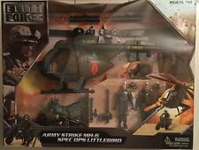 ELITE FORCE Strike MH-6 Littlebird motorcycle & action figures Army Helicopter