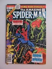 1977 THE AMAZING SPIDERMAN #11 KING SIZE ANNUAL! SPAWN OF THE SPIDER! VF- 7.5